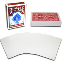 Bicycle Karte Blank Face Red Back ( 1019710 )
