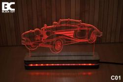 Black Cut 3D Lampa jednobojna - Oldtimer ( C01 )