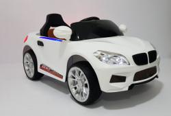 BMW 2 Auto na akumulator sa kožnim sedištem i mekim gumama - Beli