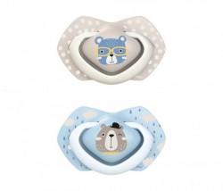 Canpol babies silikonska varalica 18+ m bonjour paris 2 kom 22/649 blue ( 22/649_blu )