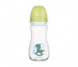 Canpol baby flašica 300ml široki vrat antikolik - easy start- toys horse - zelena ( 35/222_gre )