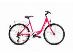 """Capriolo bicikla ella 400 24""""/18ht pink 13"""" ( 918309-13 )"""