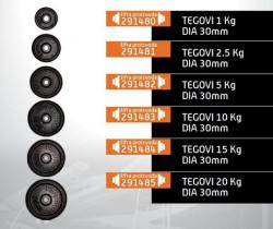 Capriolo teg čelik 15kg 30mm derex ( 291484 )