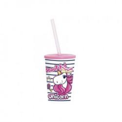Čaša sa cevčicom 340 CC UNICORN ( 48/06401 )