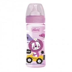 Chicco WB plastična flašica 250ml, silikon, roze ( A048501 )