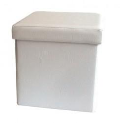 Childream tabure kutija 36cm x 36cm x 36cm beli ( 0181106 )
