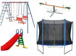 Dečiji komplet za dvorište ( Playground 3g ) Trambolina + Ljuljaška + Tobogan + Klackalica