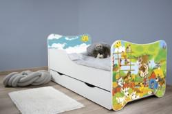 Dečiji krevet 160x80 HAPPY KITTY + fioka - FARM ( 7508 )