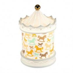 """Dekorativna keramička lampa """"vrteška"""" ( PDV02 )"""