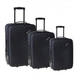 Doha, kofer, set 3 komada, PE, crna ( 100106 )