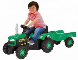 Dolu Traktor na pedale sa prikolicom crno-zeleni ( 080530 )