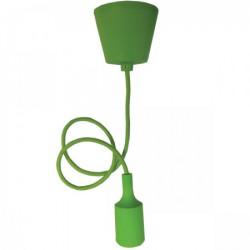 Elit+ silikonska luster visilica sa grlom e27 svetlo zelena ( EL9728 )