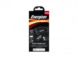 Energizer Max Universal CarKit 2USB+Lightning Cable Black 3, 4A ( CKITB2CLI3 )