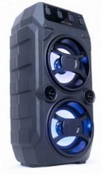 Gembird portable bluetooth karaoke speaker 2x5W, FM, USB, SD, 3,5mm, MIC 6,35mm, LED,black SPK-BT-13