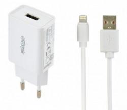Gembird punjac za telefone i tablete iPhone/iPad 5V/2.1A USB +8-pin USB kabl 1M EG-UCSET-8P-MX