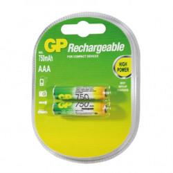 GP punjive baterije AAA 750 mAh ( 75AAAHC-2GBE-RECYKO )