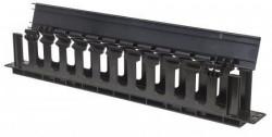 "Intellinet rack nosaš kablova 19"" 1U sa poklopcem crni (714679) ( 064-0109 )"