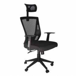 Kancelarijska radna stolica FA-672 od mesh platna - Crna