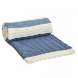 KikkaBoo Ćebence za bebe stripes - dark blue- red ( 31103010022 )