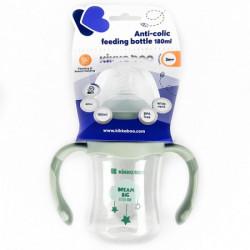 KikkaBoo flašica anti-colic sa ručicama 180ml mint cloud ( KKB90059 )