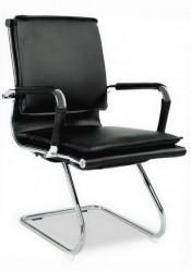 Konferencijska stolica BOB CLUB od eko kože - Crna