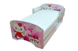 Krevet za decu Pink Kitty sa dve fioke 160*80 cm - model 803