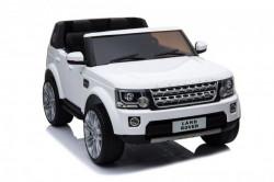 Land Rover Discovery Licencirani Dvosed sa kožnim sedištima i mekim gumama - Beli