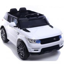 Land Rover MIni - Auto na akumulator sa kožnim sedištem i mekim gumama - Beli