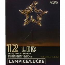 LED mini zvezda 12L bela ( 52-573000 )