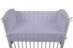 "Lillo&Pippo,ogradica za krevetac,""Zvezdice"",3401-BT,plava,60x120x60CM ( 7080196 )"