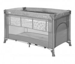 Lorelli prenosivi krevet torino 2 nivoa - grey ( 10080462123 )
