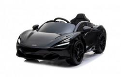 McLaren 720s Licencirani Auto na akumulator Model 272 - Crni sa kožnim sedištem i mekim gumama