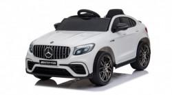 Mercedes 247 Licencirani automobil sa kožnim sedištem i mekim gumama - Beli