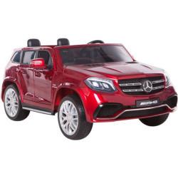 Mercedes GLS 63 AMG Crveni Licencirani Dvosed za decu na akumulator sa kožnim sedištima i mekim gumama