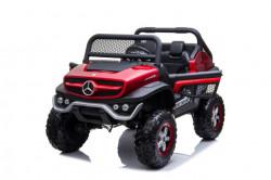 Mercedes Unimog 4x4 - Crveni Licencirani Dvosed na akumulator sa kožnim sedištima i mekim gumama