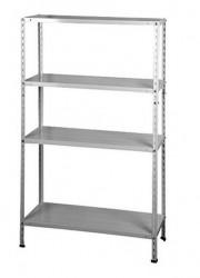 Metalna polica Varijant 4 bela 150x75x30 - nosivost 4x40kg (943161)