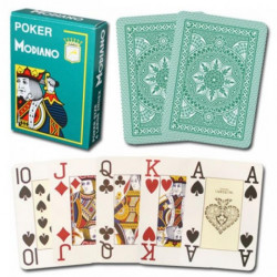 Modiano Cristallo Poker Karte - Zelene ( 300483 )