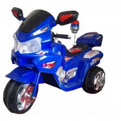 Motor 111 na akumulator sa kožnim sedištem za decu - Plavi