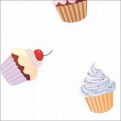 Mušema 160x140 cm - Cupcakes ( 16703 )