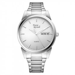 Muški Pierre Ricaud Quartz Datum Sivi Srebrni Elegantni Ručni Sat Sa Metalnim Kaišem