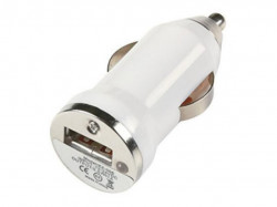 N/A Auto punjač USB 1A E-11 beli ( 00-002 )