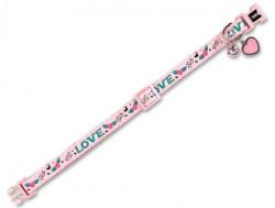 Nobby 77906 Ogrlica za mačke Love roze ( NB77906 )