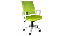 Office Chair DSM04 Green/White (Mesh,PU) ( DSM-04-G )