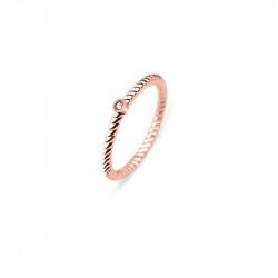 Paul Hewitt Rope North Star Roze Zlatni Prsten Od Hirurškog Čelika 54