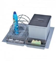 Pelikan Organizator za fioku ispod sudopere, grafit sivi, 12lt ( 81125 )