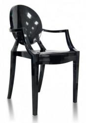 Plastična stolica GHOST - Crna