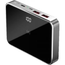 Prestigio graphene fast charging powerbank (Aluminium and Tempered Glass case), Capacity 10000 mAh (37Wh), 2*USB3.0 Quick Charge, 1*Type C