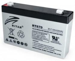 Ritar punjiva olovna baterija VRLA, 6V 7Ah za UPS 151x34x94mm BAT-RT670