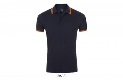 SOL'S pasadena men muška polo majica sa kratkim rukavima teget/narandžasta S ( 300.577.53.S )