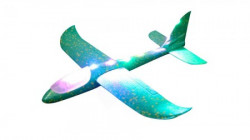 Toy plane 48cm Green with light ( 036584 )